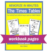 Memorize in Minutes: The Times Tables Cover