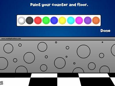 Decorate the Counter and Floor in Minko's Milkshake Shop | Multiplication.com
