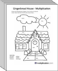 Free Secret puzzle Christmas Coloring multiplication worksheets - Multiplication.com