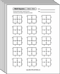 Free Secret puzzle Multi-Square multiplication worksheets - Multiplication.com