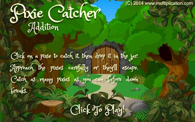Welcome to Pixie Catcher Addition | Multiplication.com
