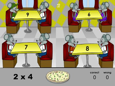 Solve the Facts to Deliver Pizza in Pizza Pizzazz | Multiplication.com