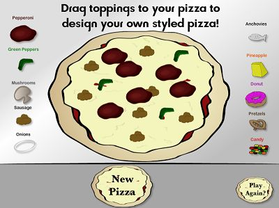 Design Your own Pizza in Pizza Pizzaz | Multiplication.com