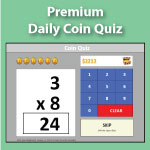 Premium Coin Quiz | Multiplication.com