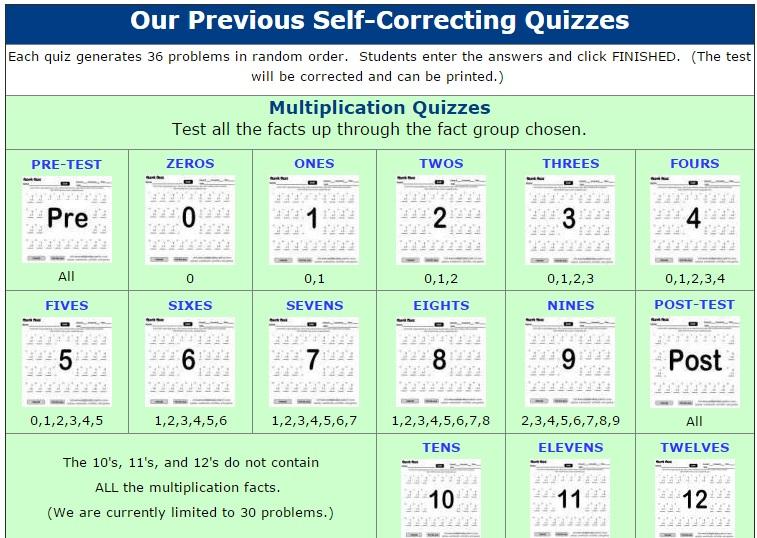 Self-Correcting Quizzes