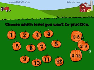Choose a Fact for Farmer Fred's Pumpkin Patch | Multiplication.com