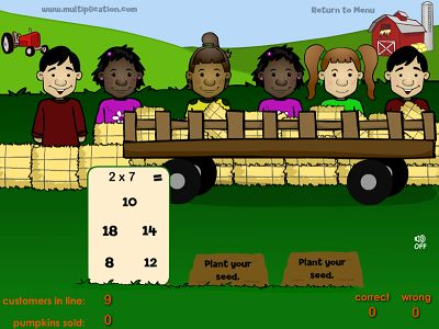 Plant Seeds in Farmer Fred's Pumpkin Patch | Multiplication.com