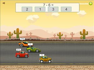 Road Rally Subtraction Multi Player Game Step 6