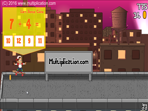 Solve Addition Facts in Rooftop Ride Addition | Multiplication.com