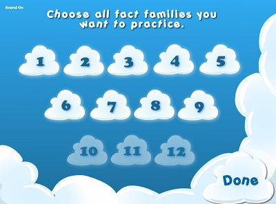 Choose Fact Families in Bubble Bugs Subtraction | Multiplication.com