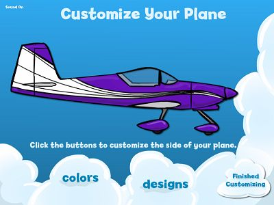 Customize Your Plane in Flying High II Subtraction | Multiplication.com