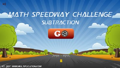 Welcome to Math Speedway Challenge Subtraction | Multiplication.com