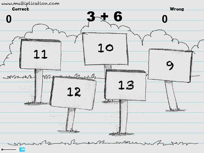 Solve Addition Facts in Sketch's World Addition | Multiplication.com