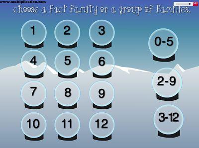 Choose a Fact for Snowman Fun | Multiplication.com