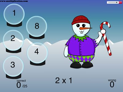 Solve the Problems in Snowman Fun | Multiplication.com