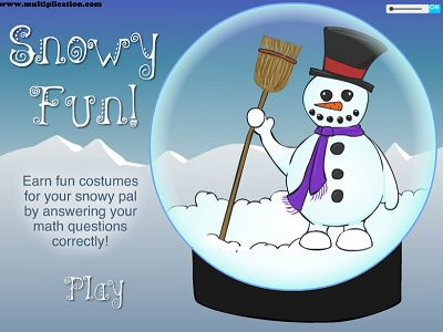 Welcome to Snowman Fun | Multiplication.com