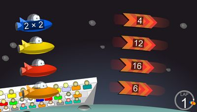 Solve the Facts in Space Race | Multiplication.com
