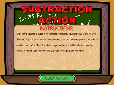 Welcome to Subtraction Action | Multiplication.com