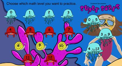 Choose a Fact Famliy for Super Stars | Multiplication.com