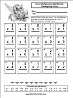multiplication mystery puzzles printables | Click here ...