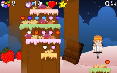 Collect Hearts in Valentine Pogo | Multiplication.com
