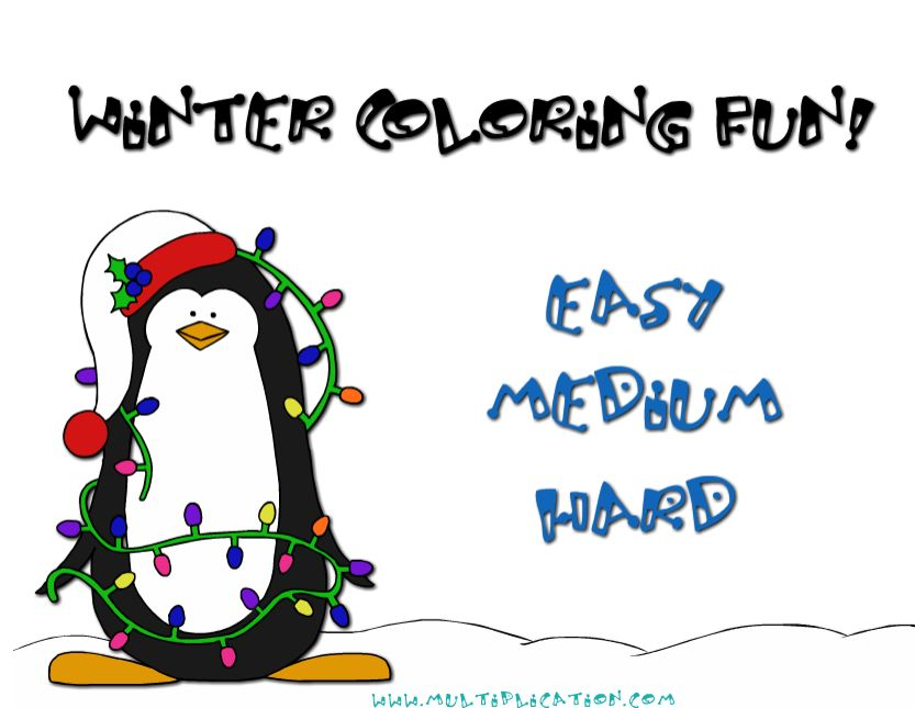 Welcome to Winter Coloring Fun | Multiplication.com