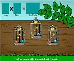 Fill in the Multiplication Problem in Bird Haven | Multiplication.com