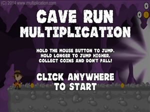 Welcome to Cave Run Multiplication Game | Multiplication.com