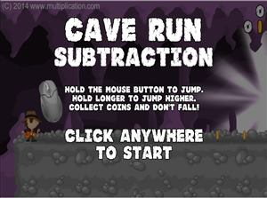 Cave Run Subtraction Step 1