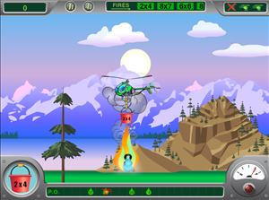 Put Out Fires in Chopper Challenge Forest Fire Multiplication | Multiplication.com