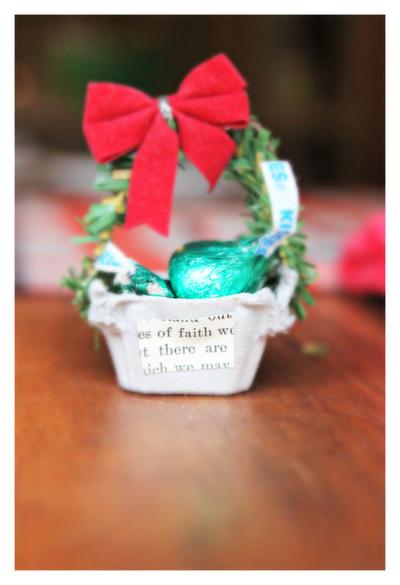 Egg Carton Christmas Basket Ornament