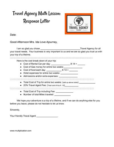 inquiry letter for travel agency