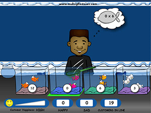 Pick the Right Fish in Fish Shop Multiplication | Multiplication.com