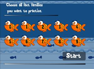 Choose Fact Families in Fish Shop Subtraction | Multiplication.com