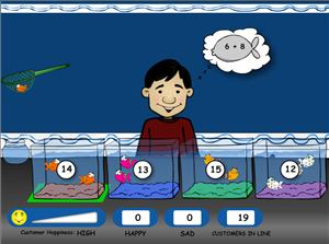 Scoop the Right Fish in Fish Shop Addition | Multiplication.com