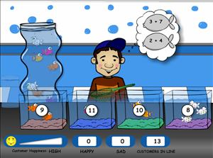 Level Two of Fish Shop Addition | Multiplication.com