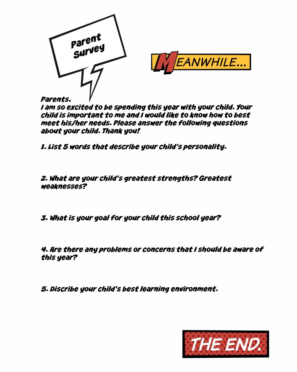 comic book superhero beginning of the year printables