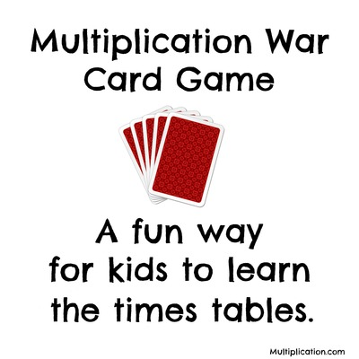 Multiplication War Card Game | multiplication.com