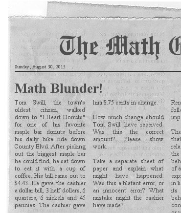math article The student in the math club is going to grow by great leaps,  many students get stuck in the calculus trap because they believe it's their only option.