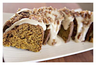 Pumpkin Nutella Pound Cake With Maple Pecan Glaze Recipe — Dishmaps