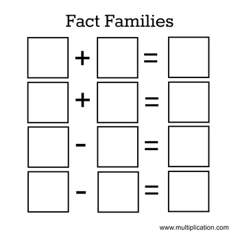 Fact Family House for Interactive Math Notebook by Lights Camera Learn