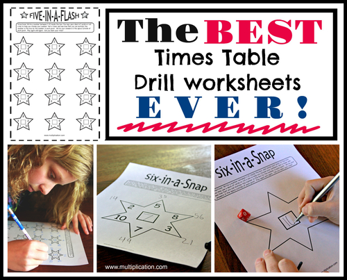 The Best Times Table Drill Worksheets Ever | multiplication.com