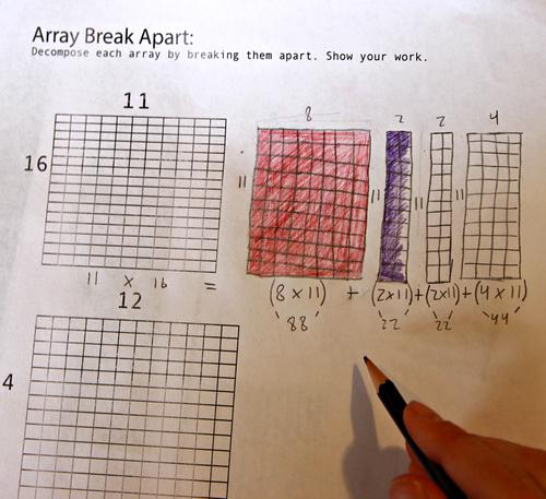 Breaking Apart Arrays – Break Apart Multiplication Worksheets