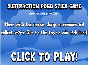 Welcome to Subtraction Pogo | Multiplication.com