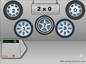 Tonys Tires Multiplication Game Step 3