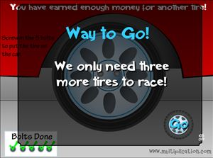 Keep Earning Tires in Tony's Tires Multiplication | Multiplication.com