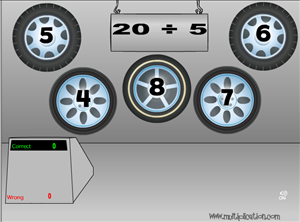 Solve the Facts in Tony's Tires Division | Multiplication.com