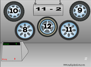 Tonys Tires Multiplication Game Step 3