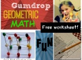geometry, fun math, cool math lesson, gumdrop math, toothpicks and marshmallows, geometric scultpures, vertices