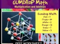 gumdrop math, marshmallows and toothpicks, multiplication worksheet, free math, fun math, cool math